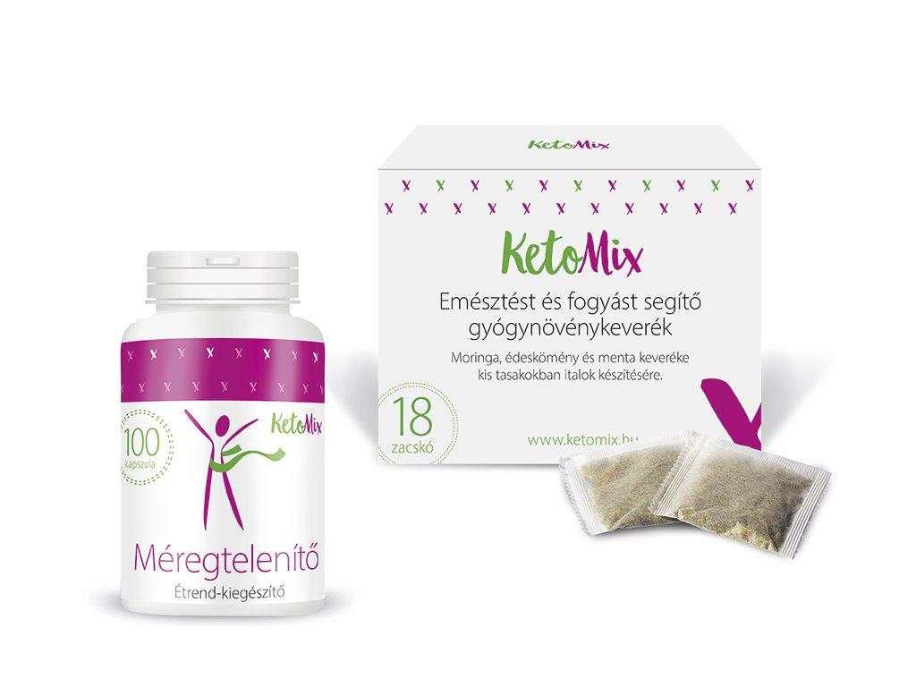 Detox csomag - Detox kapszula + fogyást és emésztést segítő gyógynövénykúra - filteres