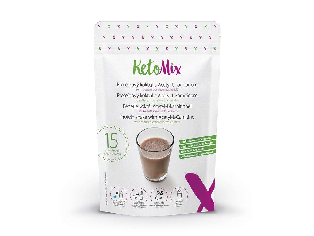 Fehérje koktél Acetyl-L-karnitinnel, csokoládé-banán ízű (15 adag)