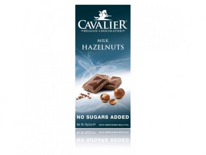 MILK HAZELNUTS csokoládé (maltitollal édesített) 85 g