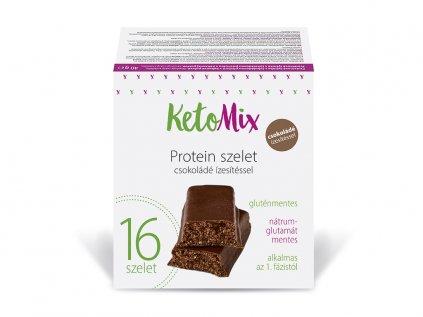 Csokoládé ízű protein szeletek