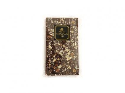 Cukormentes csokoládé 77% MOGYORÓVAL ÉS DIÓVAL 68 g