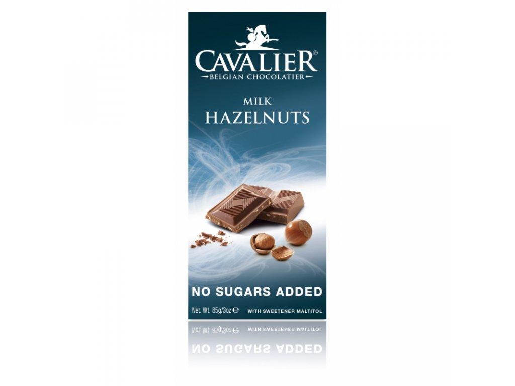 160 cokolada milk hazelnuts sladena maltitolom 85 g