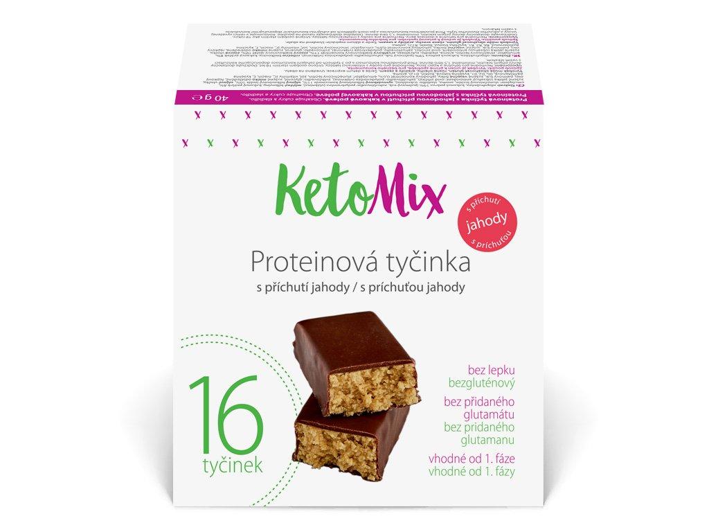 Proteínové tyčinky s jahodovou príchuťou