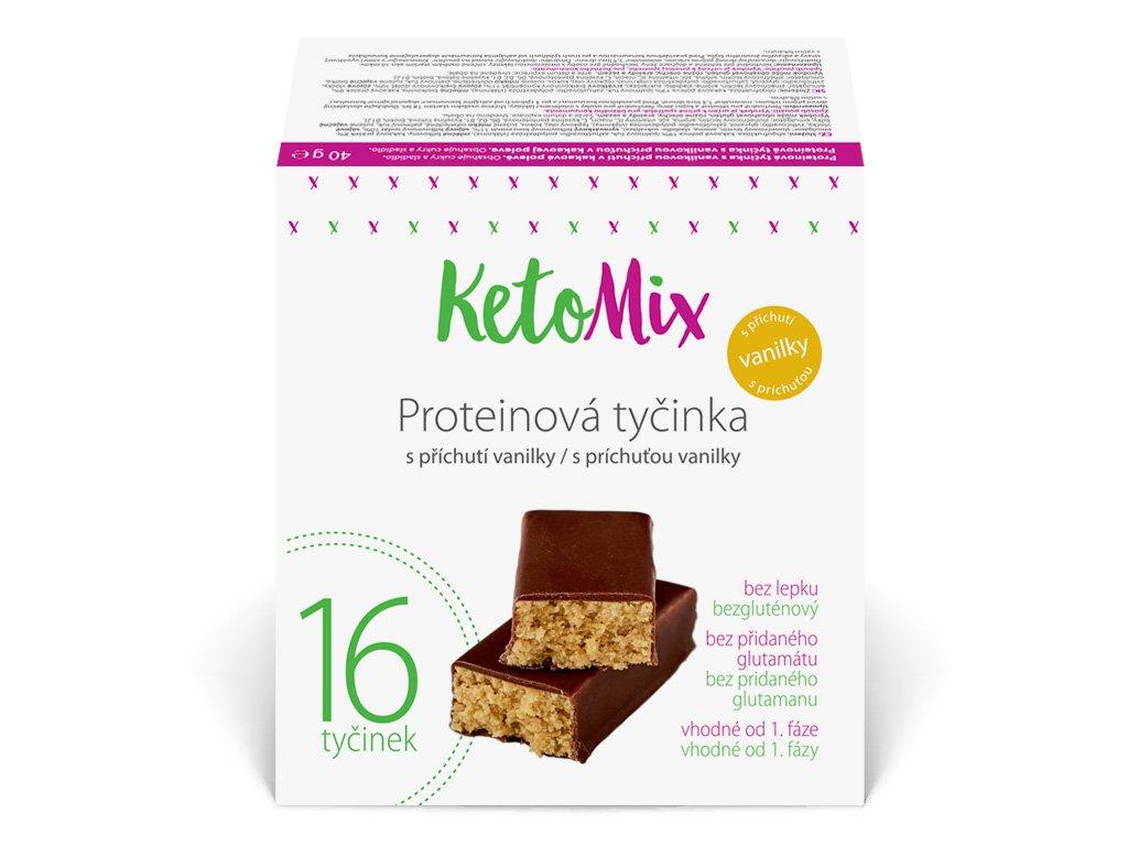 Proteínové tyčinky s vanilkovou príchuťou