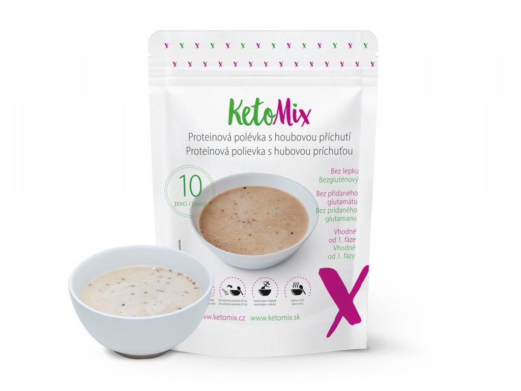 Proteínová polievka s hubovou príchuťou (10 porcií)