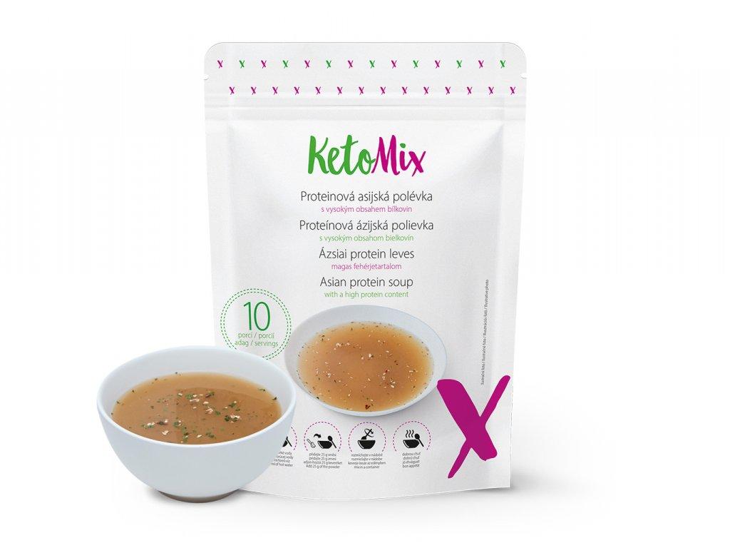 Proteínová ázijská polievka (10 porcií)