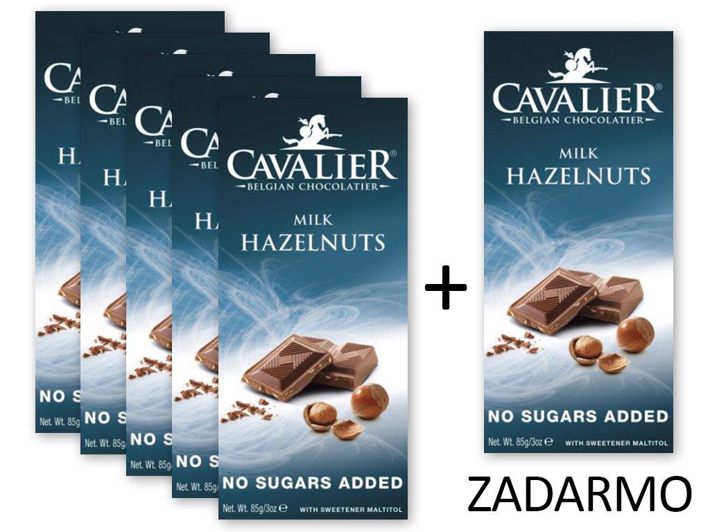 Čokoláda MILK HAZELNUTS 5+1 ZADARMO