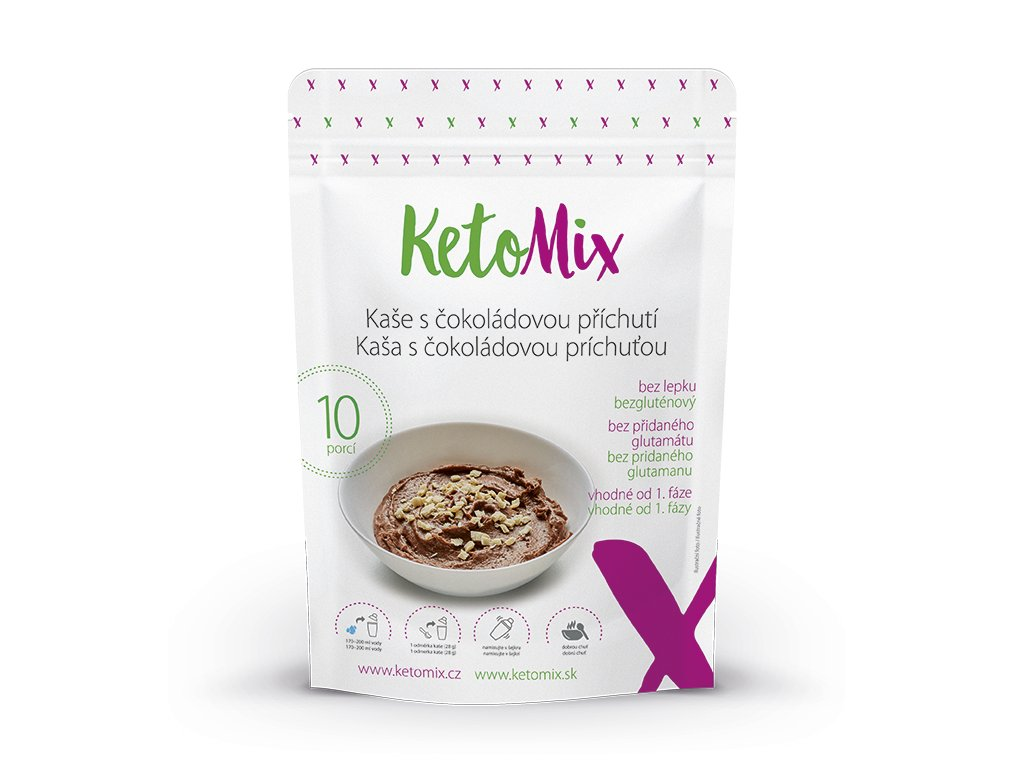 Proteínová kaša KetoMix 280 g (10 porcií) - s čokoládovou príchuťou