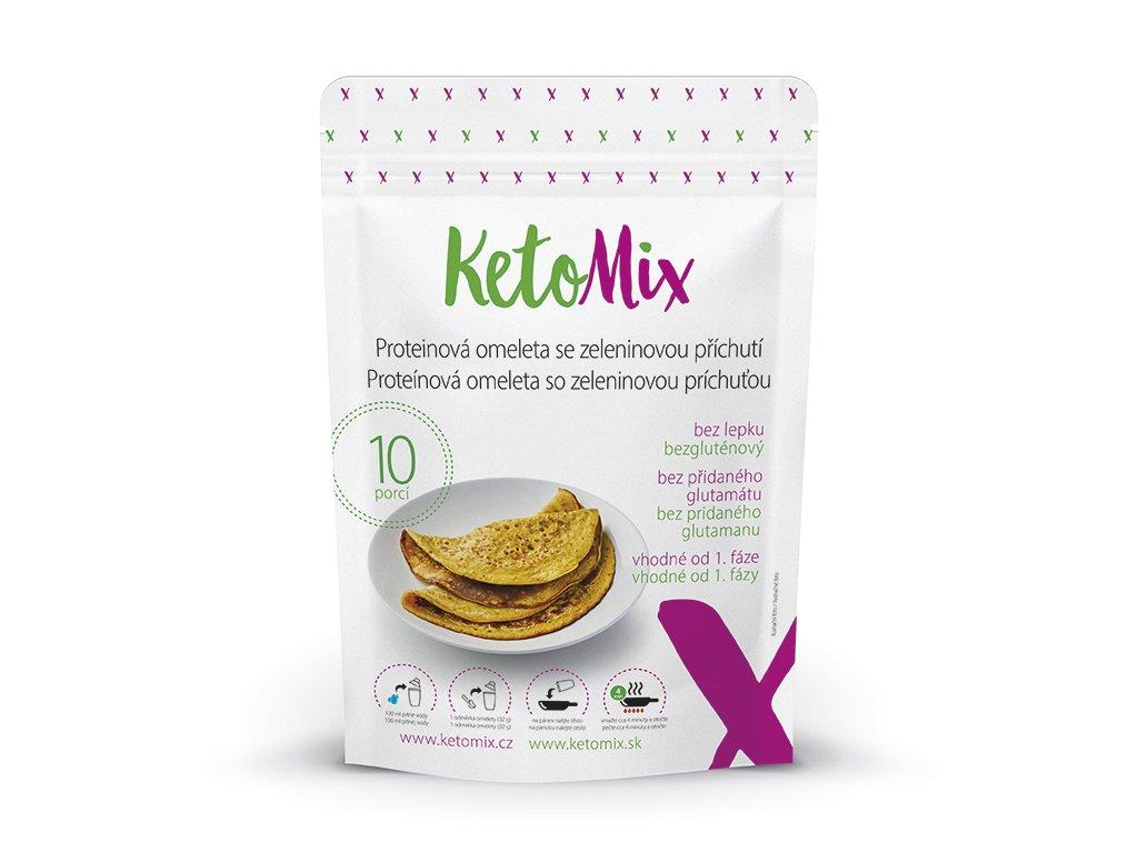 Proteínová omeleta KetoMix (10 porcií) - so zeleninovou príchuťou