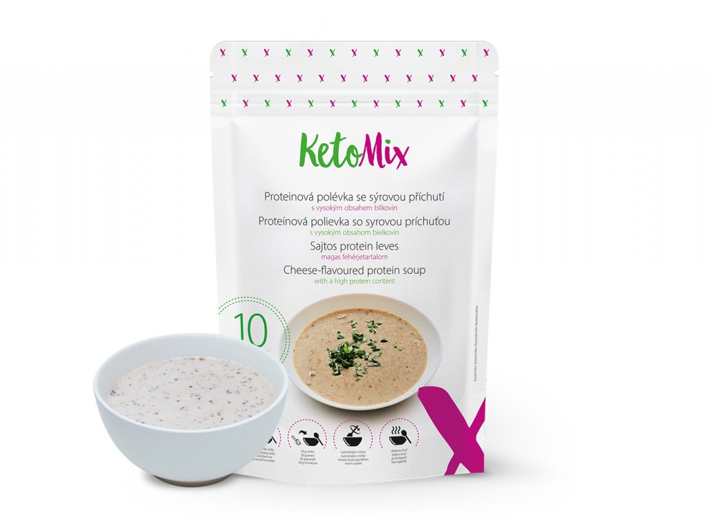 Proteínová polievka KetoMix 300 g (10 porcií) - so syrovou príchuťou