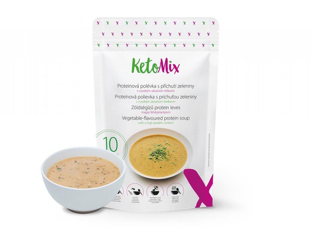 Proteínová polievka KetoMix 250 g (10 porcií) - so zeleninovou príchuťou
