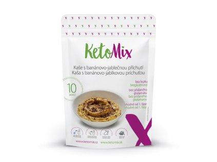 Proteínová kaša KetoMix 280 g (10 porcií) - s banánovo-jablkovou príchuťou