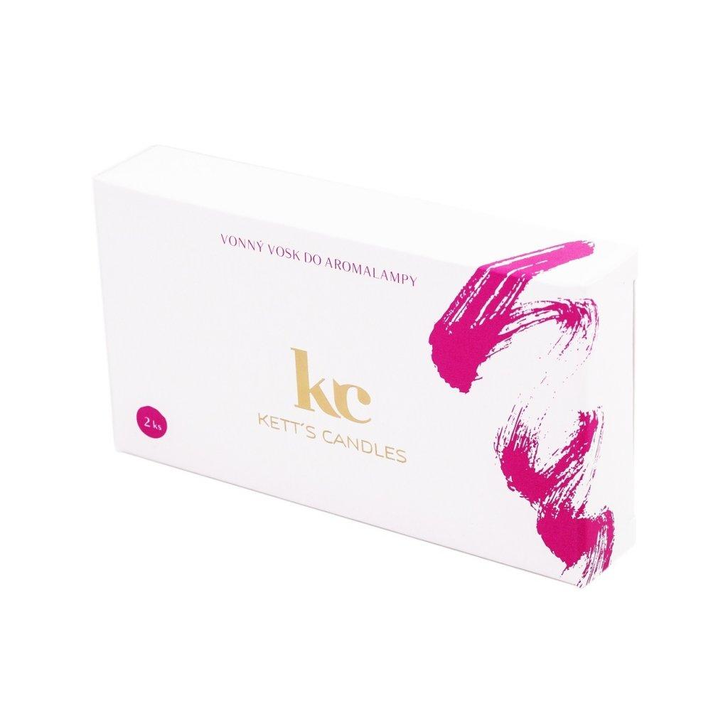 KETT'S CANDLES vonné vosky růžová 2ks