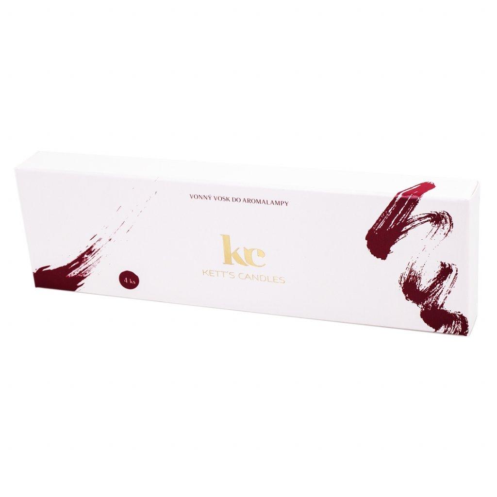 KETT'S CANDLES vonné vosky vínová 4ks