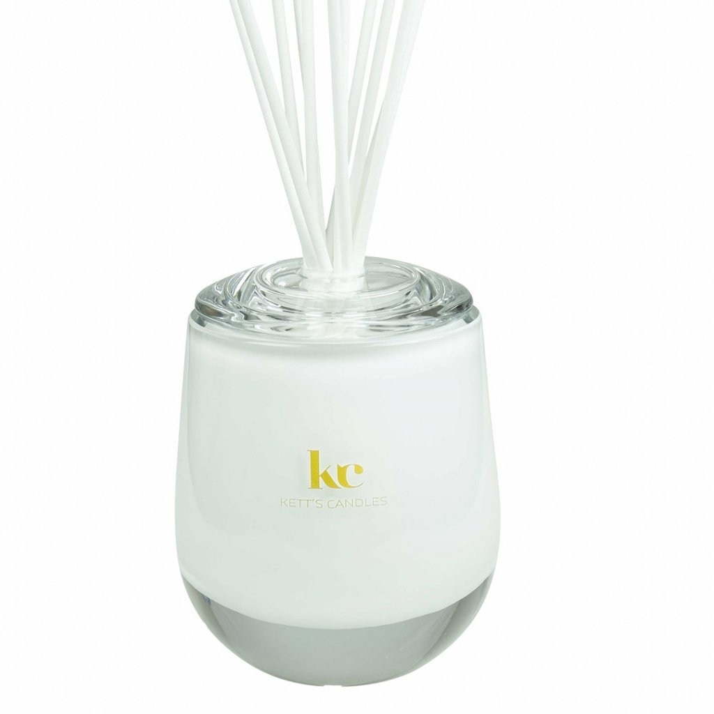 KETT'S CANDLES vonný difuzér velký,bílý, lesk 2