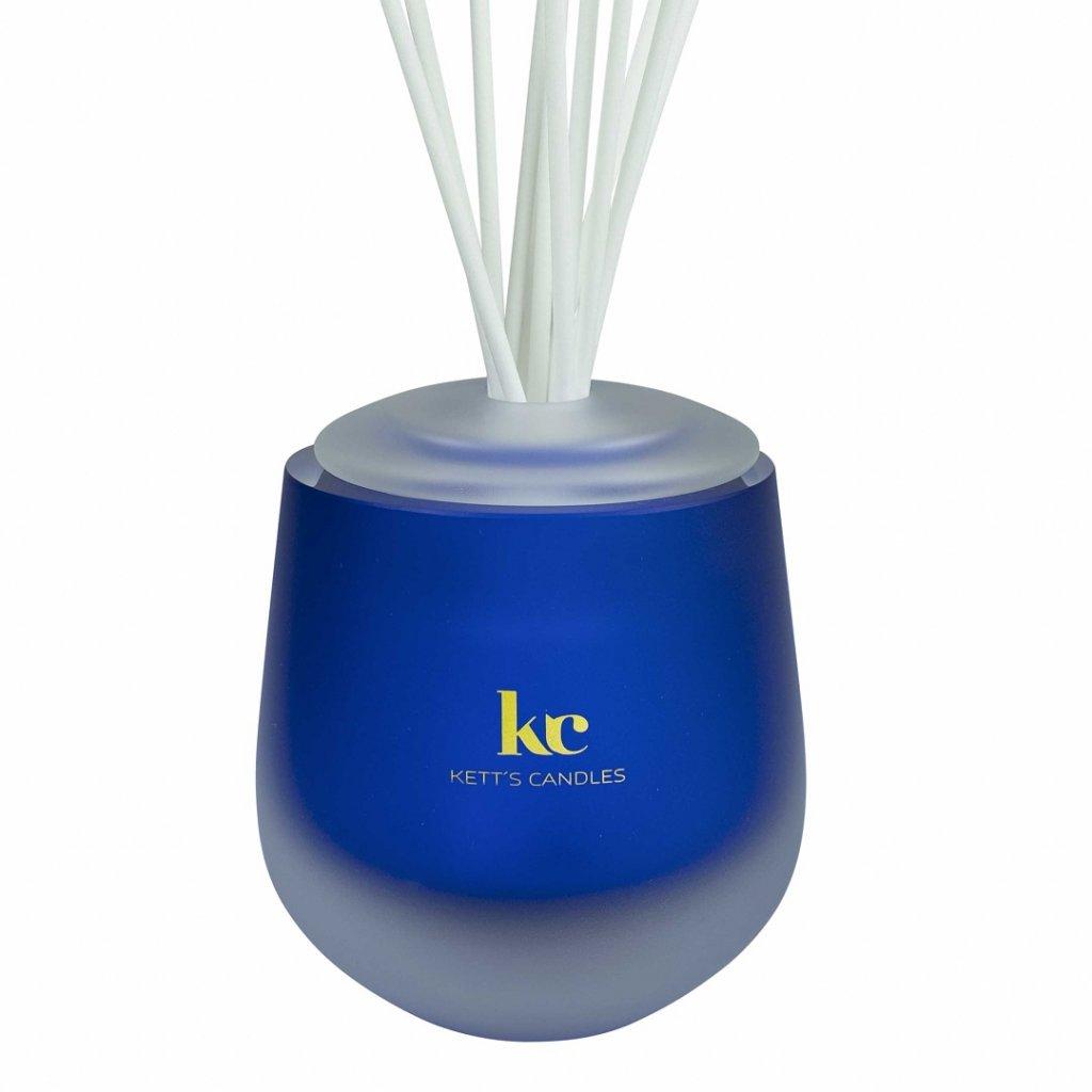 KETT'S CANDLES vonný difuzér velký, kobalt, MAT