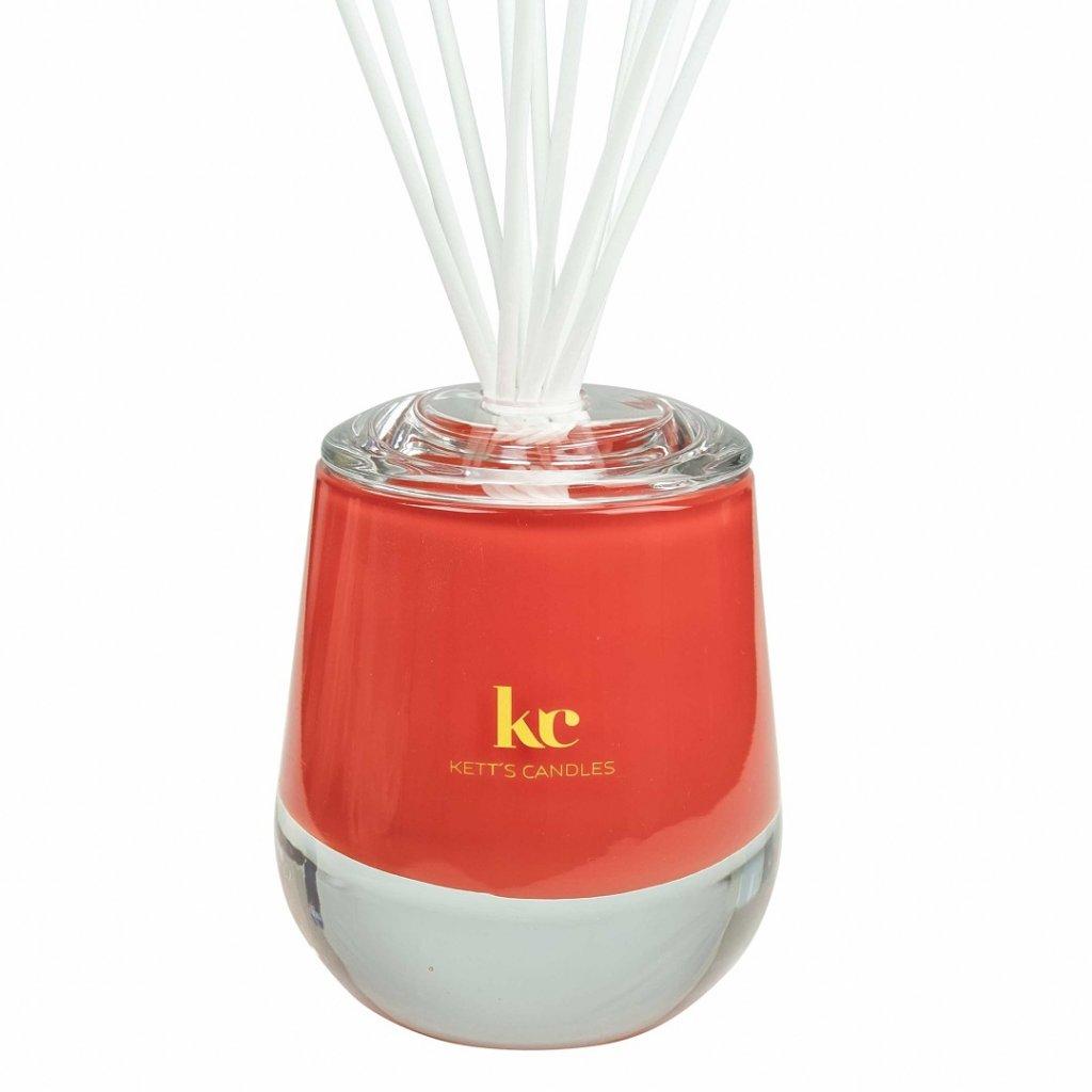KETT'S CANDLES vonný difuzér velký, červený, lesk