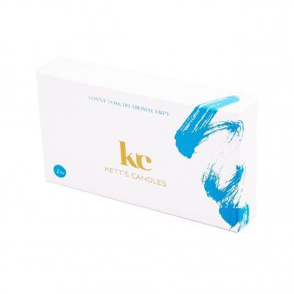 KETT'S CANDLES vonné vosky modrá 2ks