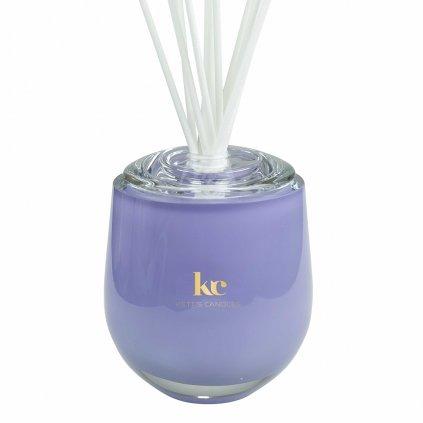 KETT'S CANDLES vonný difuzér velký,fialový, lesk