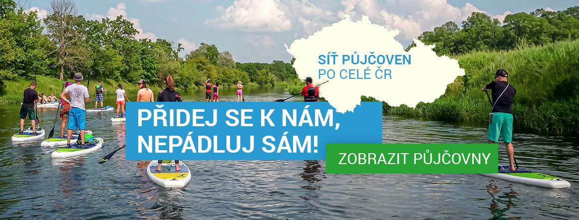 Nepádluj sám, přidej se k nám! - Půjčovny paddleboardů po celé ČR