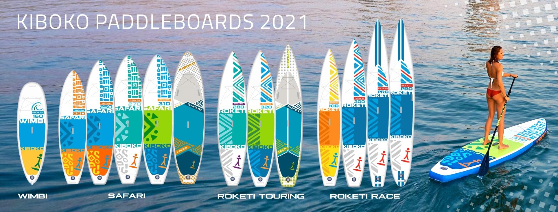 Modelová řada paddleboardů Kiboko 2021