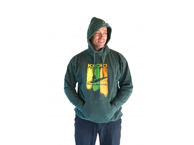 Pánská zelená mikina Kiboko