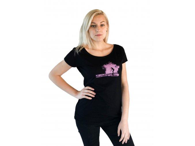 Dámské černé tričko Kiboko