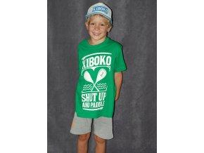 Dětské zelené triko Shut Up And Paddle