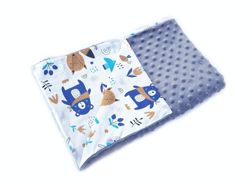 KidPro senzomotorická deka Méďa, šedá