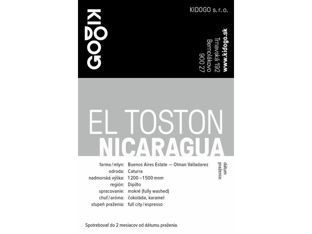 Kidogo etikety El Toston
