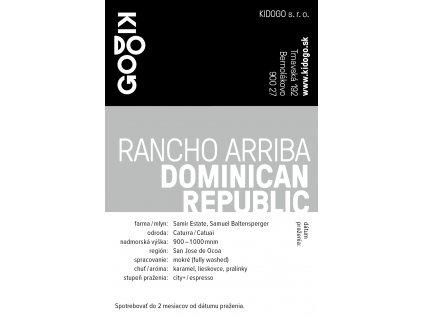 Kidogo etikety Rancho Arriba
