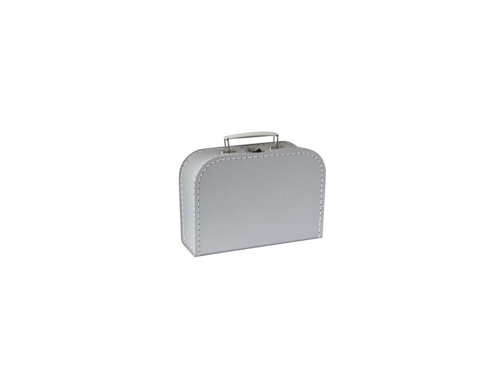 KAZETO | Šedý kufřík 25 cm