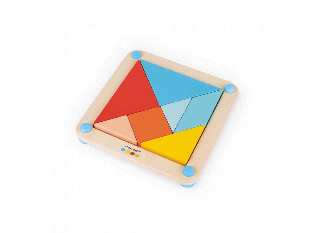 J05070 Janod origami tangram s predlohami 25 ks kariet seria montessori 01