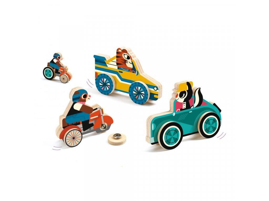 DJ01673 Dřevěné dopravní prostředky