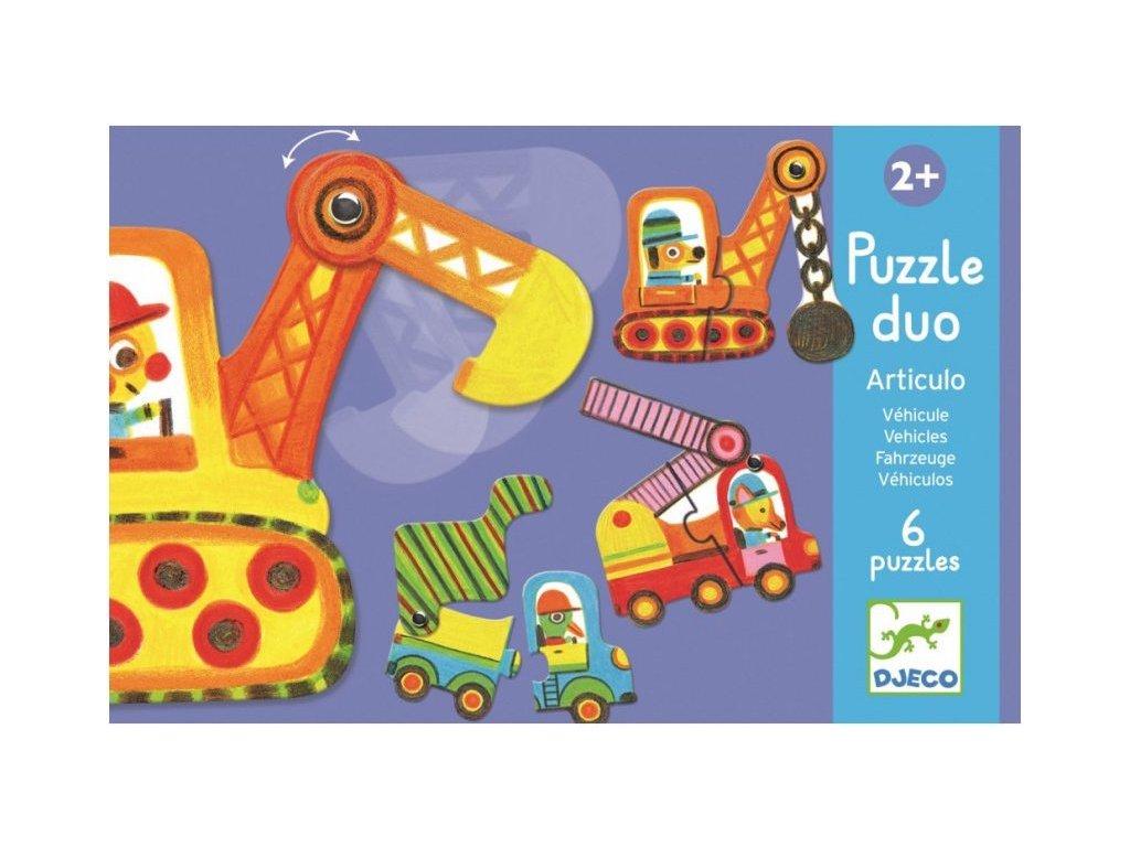 DJ08170 Duo puzzle autíčka v pohybu 1