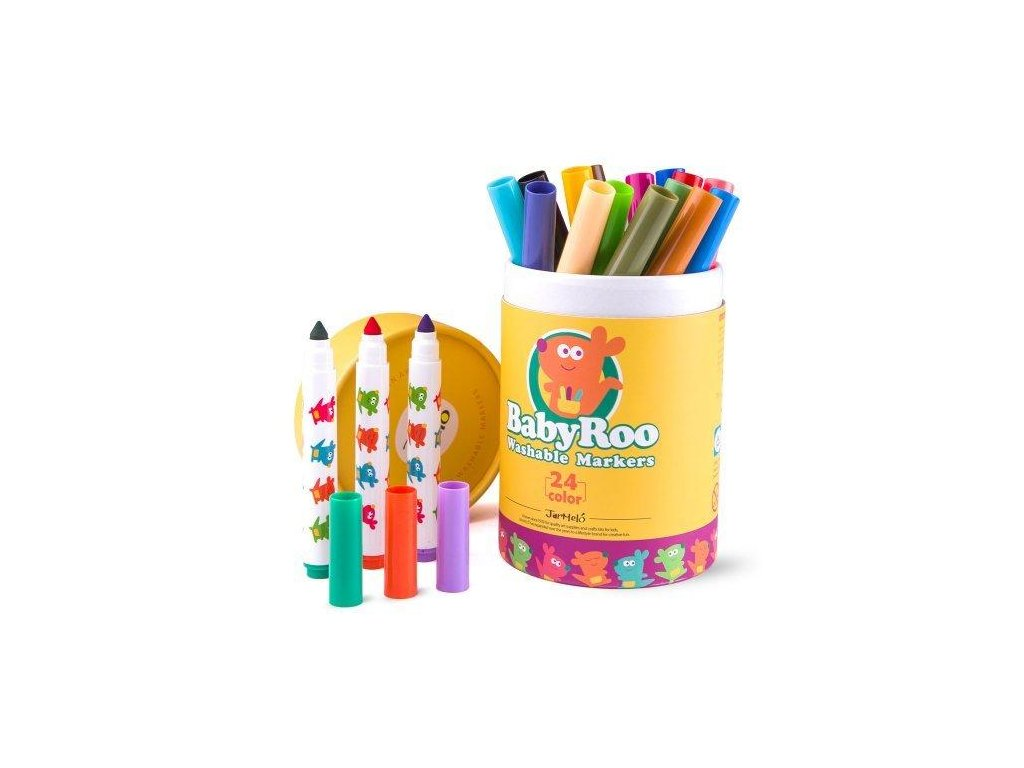 umyvatelne fixky 24ks washable markers baby roo jar melo JA90497 01 500x500 1024x1024@2x
