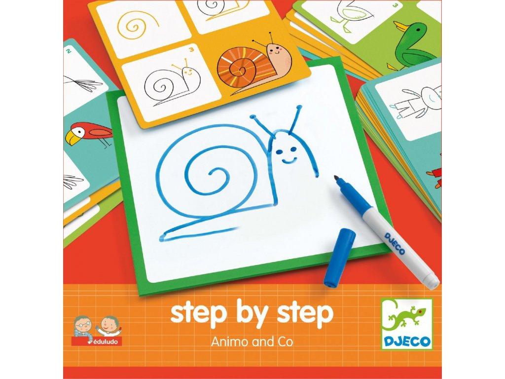 DJ08319 Kreslení krok za krokem Zvířátka 1