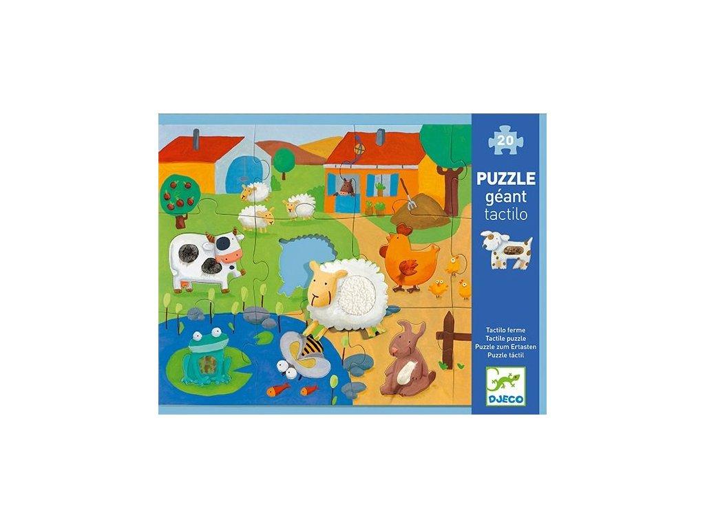 DJ07117 Puzzle hmatové Farma