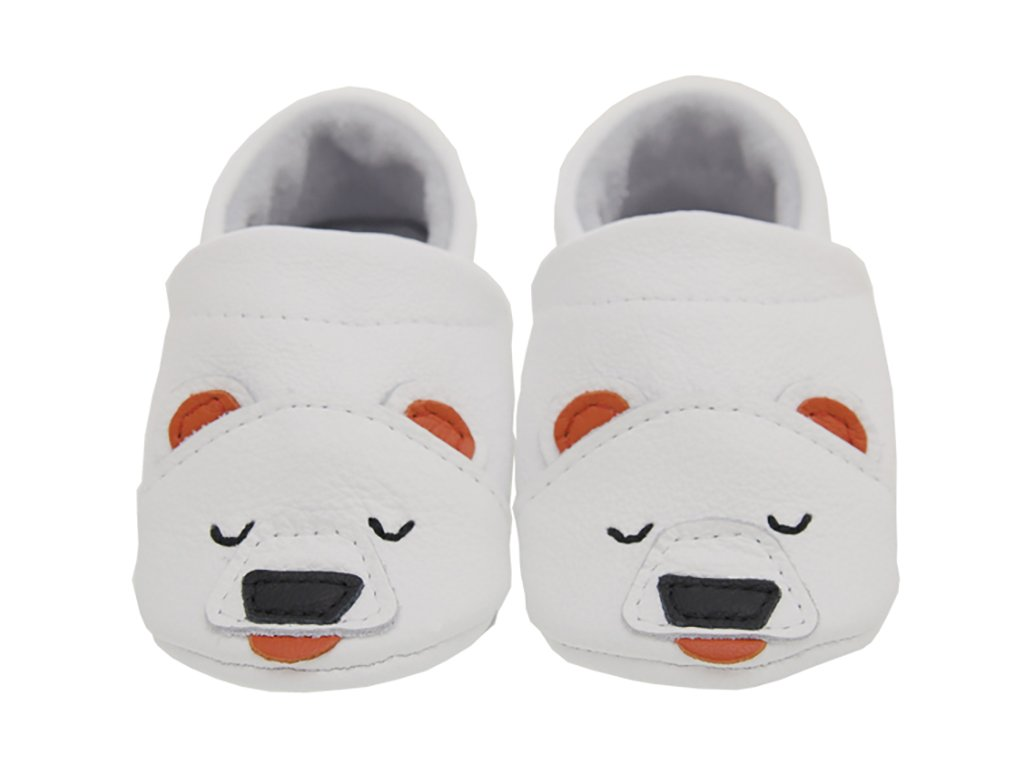 first baby shoes polor bear front