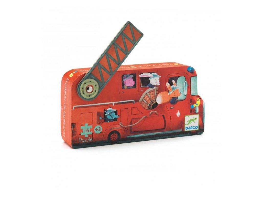 DJ07269 Puzzle v krabičce hasičské auto 1