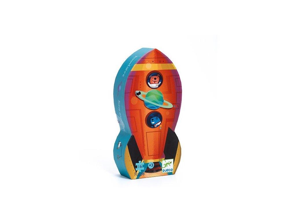 DJ07271 Puzzle v krabičce Vesmírná raketa 1