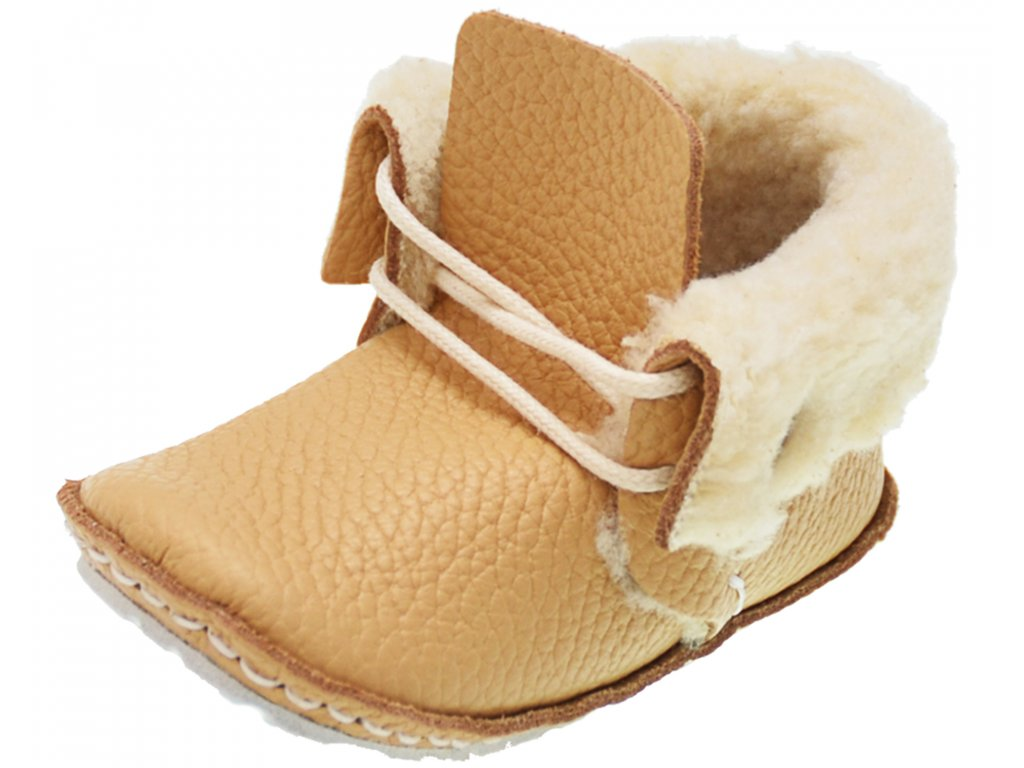 first baby shoes rie model champagne front