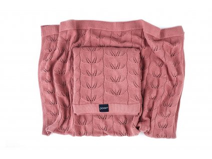 knitted bamboo blanket milano color herbal rose
