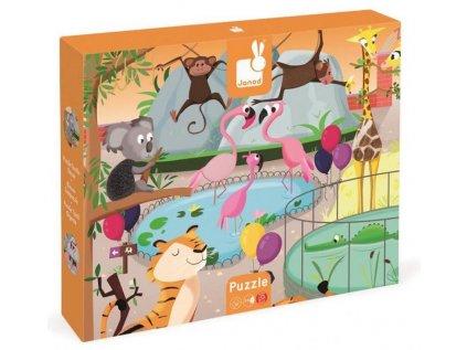 J02774 Puzzle dotykove Den v zoologickej zahrade Janod s texturou 20 dielov od 3 6 rokov 1