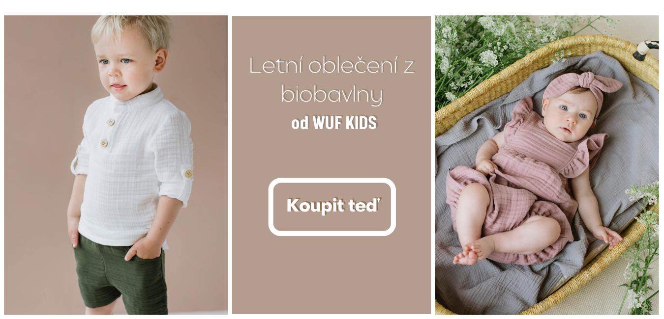 Oblečení z organické bavlny pro miminka a malé děti od