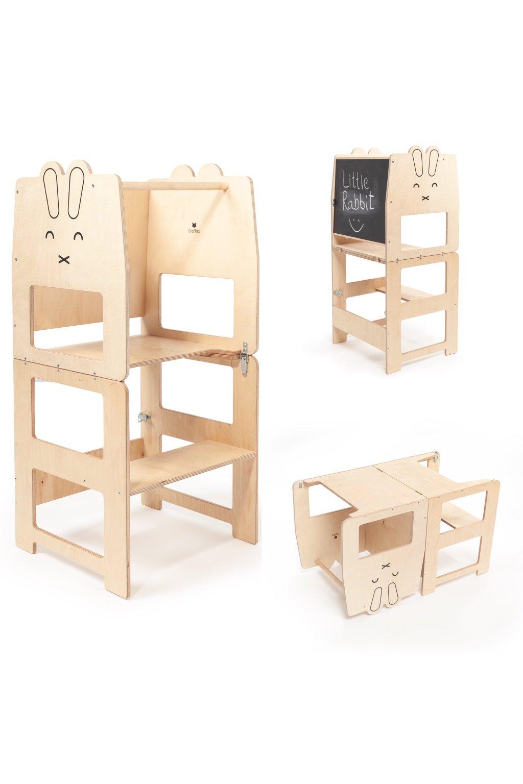 Multifunkční učící věž králík by Craffox
