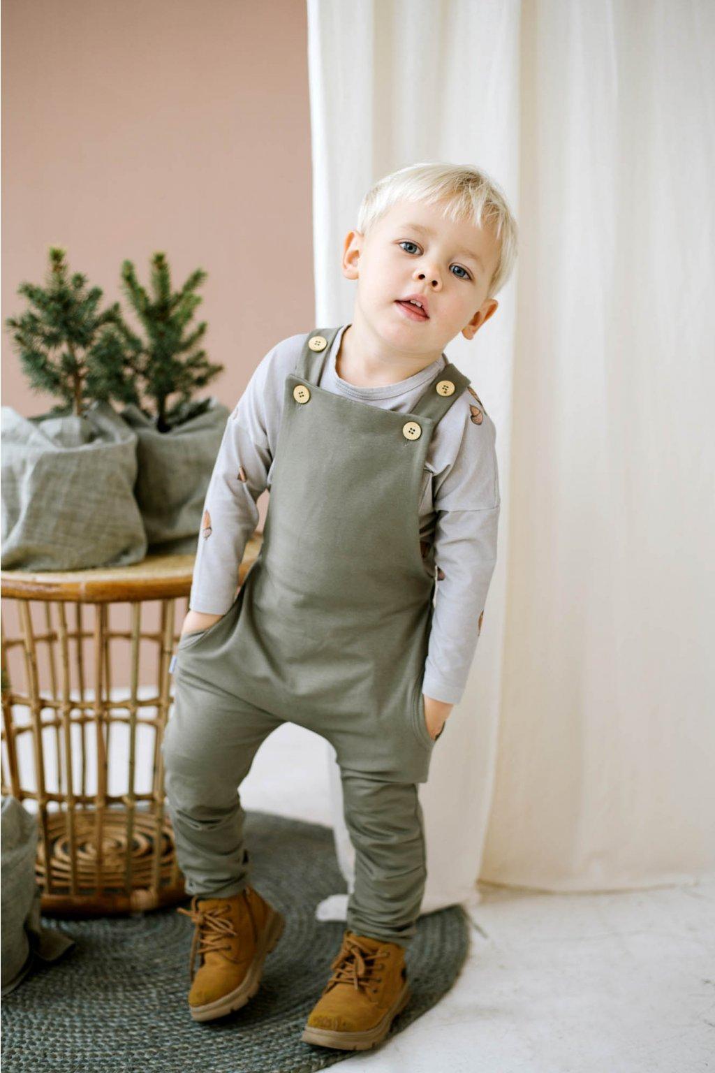 WUF KIDS chlapecké kalhoty - haki