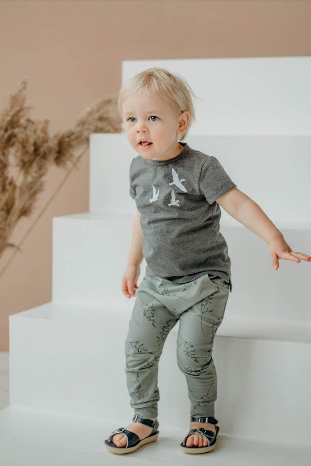 WUF KIDS chlapecký kalhoty - kouřově zelená