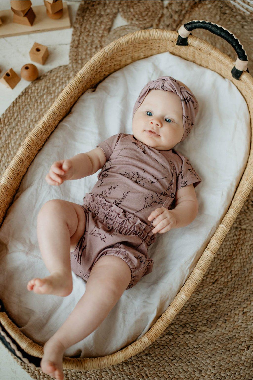 WUF KIDS dívčí šortky - tmavě růžové