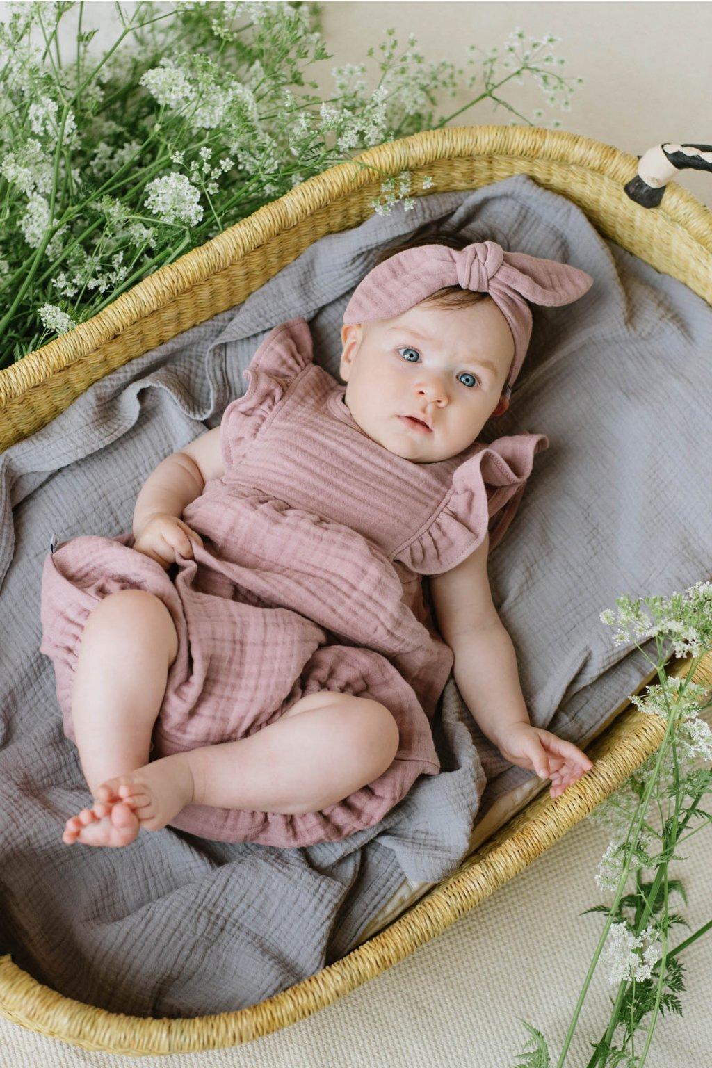 WUF KIDS stylová čelenka - růžová